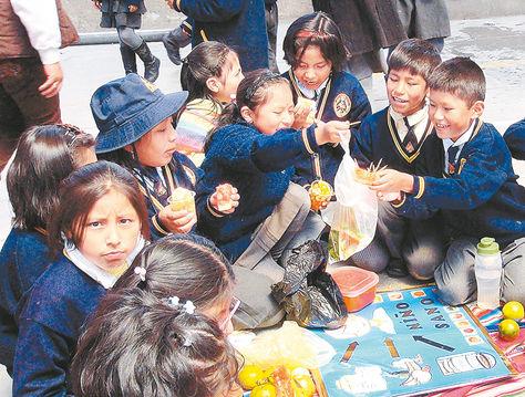 Escolares. Nutricionistas sugieren reemplazar bebidas con cafeína por frutas y verduras, para niños.