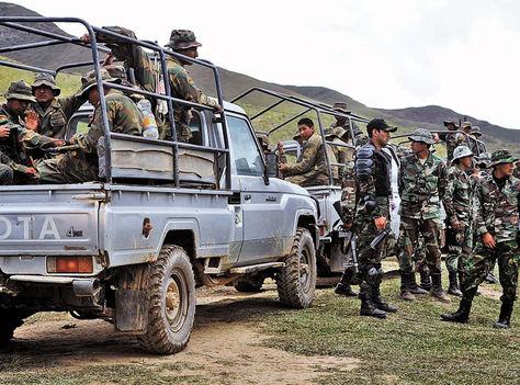 Apolo. Efectivos de la FTC viajan a Miraflores. San Fermín está a más de 100 km, en la frontera.