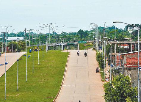 Progreso. La capital pandina muestra las señales del desarrollo en el norte.