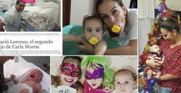 Carla Morón celebra el primer año de su segundo hijo, Lorenzo