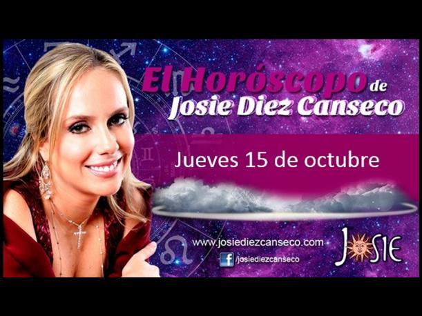 Josie Diez Canseco: Horóscopo del jueves 15 de octubre (FOTOS)