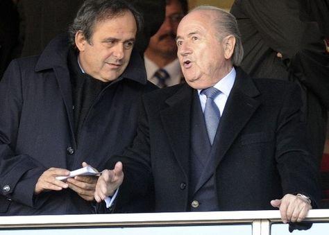 Joseph Blatter junto a Michel Platini. Foto: www.nacion.com