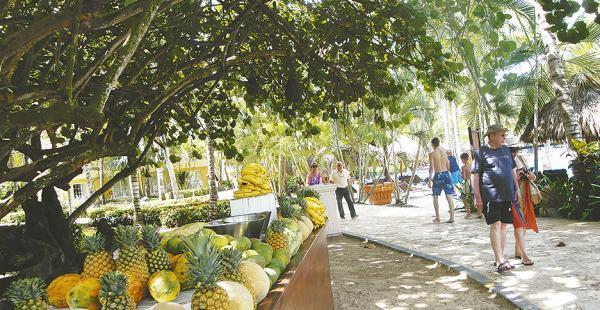 Para deleitarse  Jugos de frutas naturales y refrescos están a disposición de los huéspedes de los hoteles que hay en la zona. Los turistas pueden comerlas al paso, durante su paseo.