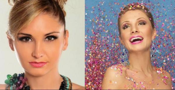 Los Pichones, comparsa coronadora, habían designado a Andrea Forfori (izq) que sea la reina del Carnaval en reemplazo de Valeria Saucedo