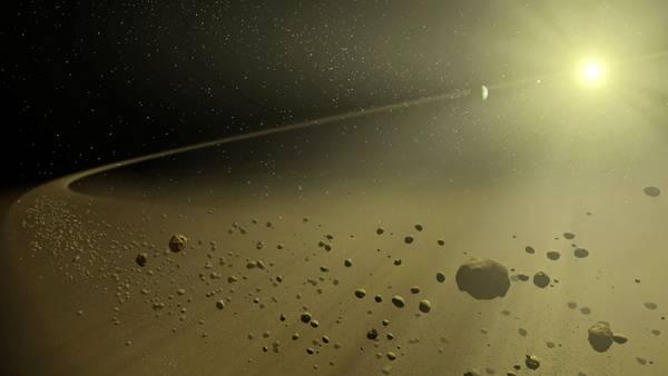 Otra de las posibilidades. Recreación de fragmentos de cometas orbitando alrededor de la estrella.