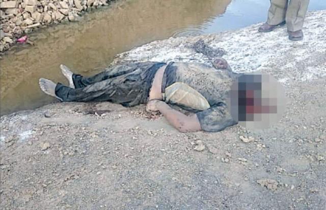 Este es el cuerpo del hombre decapitado.