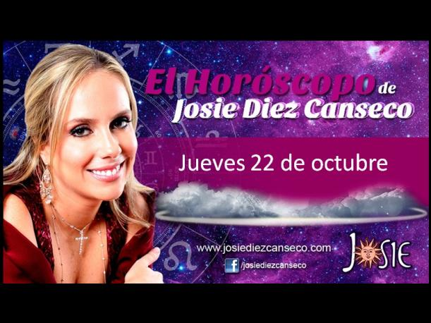 Josie Diez Canseco: Horóscopo del jueves 22 de octubre (FOTOS)