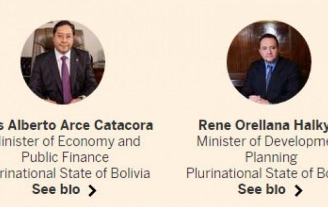 Ministros Arce y Orellana ya viajaron a EEUU para evento organizado por el diario Financial Times