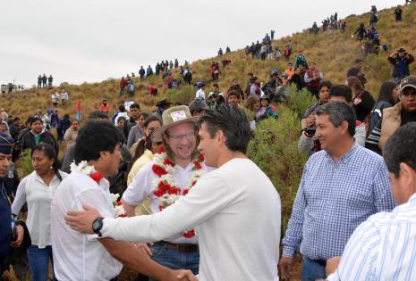 Evo Morales inauguró campaña de refoerestación en San Andrés, Tarija