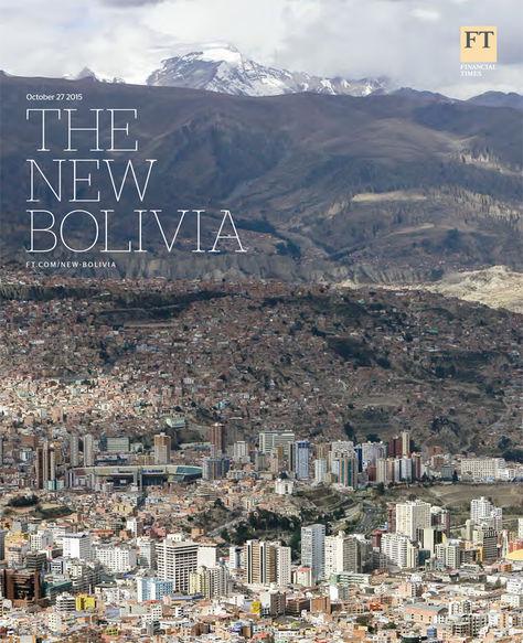 Portada de la separata sobre Bolivia de Financial Times.
