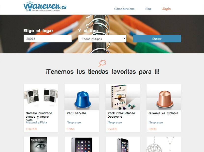 warever 2 830x619 Warever una plataforma de reparto de comida y todo tipo de productos