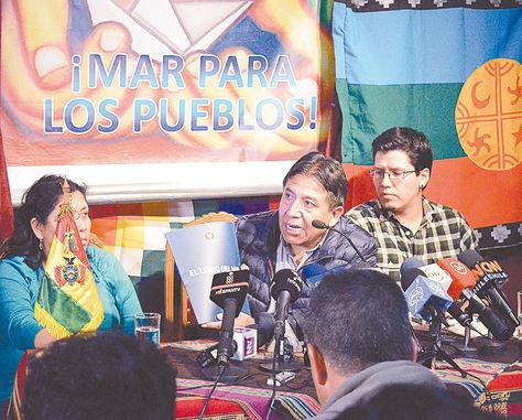 Reflexiones. El ministro boliviano habló de promover el diálogo, de integración y la demanda boliviana.