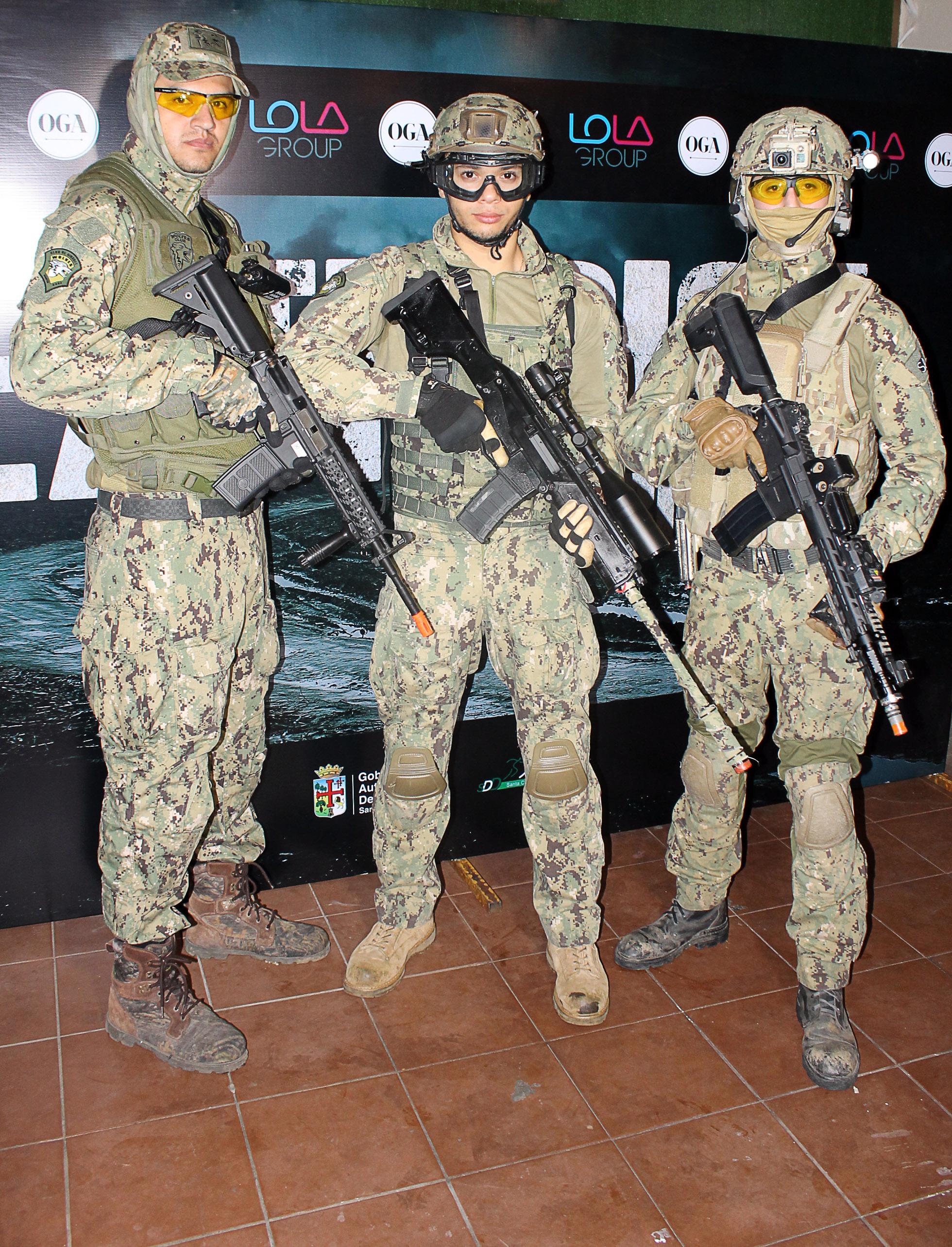 Raúl Salas, Geison Mendes y Segio Nacif