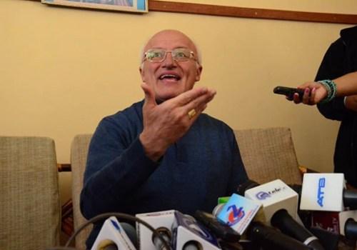 El secretario General de la CEB, Eugenio Scarpellini, ayer en Cochabamba. - Carlos  López Gamboa Los Tiempos
