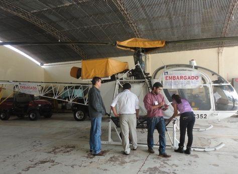 Helicóptero embargado por el SIN Santa Cruz