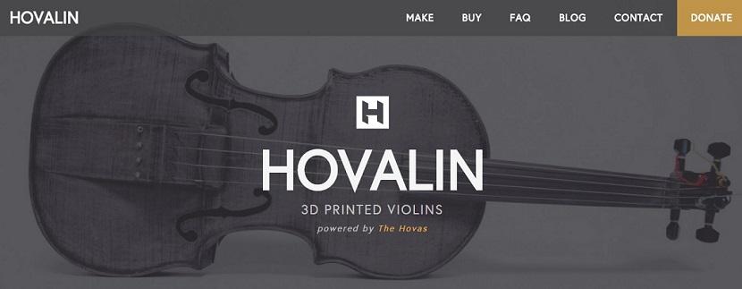Hovalin Hovalin, un violín que tu mismo puedes imprimir en 3D