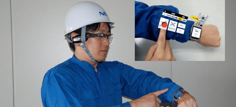 armkeypad nec 830x378 NEC pone un teclado en tu brazo con tu SmartWatch