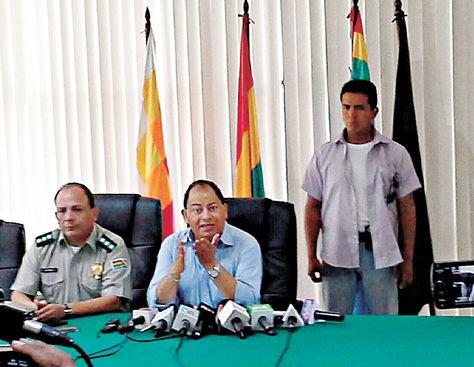 Santa Cruz. El ministro Carlos Romero presenta los resultados de los últimos operativos antidrogas.