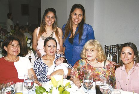eresa Arduz, 'Yoyi' Higazi, Yoly Francesco, Sara Saldaña, Nicole, Tamara y Agustín Urey
