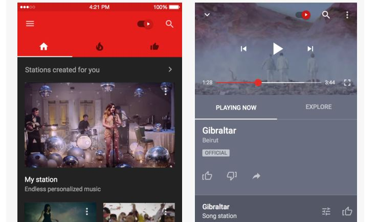 youtube music 1 YouTube Music ya disponible para iOS y Android