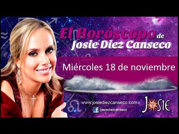 Josie Diez Canseco: Horóscopo del día 18 de noviembre (VIDEO)