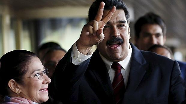 Nicolás Maduro y su esposa, Cilia Flores, en su viaje a la ONU para hablar de derechos humanos