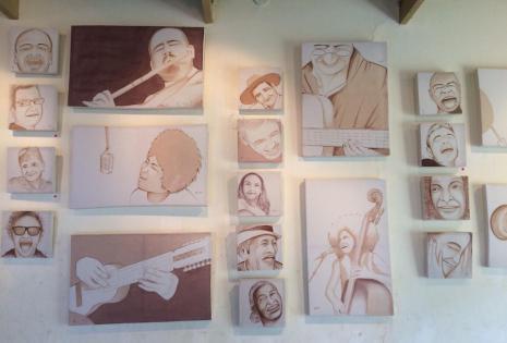 Los cuadros expuestos en el Centro Cultural de Samaipata