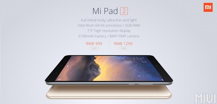Xiaomi MiPad 22 MiPad 2, la nueva y potente tablet de Xiaomi