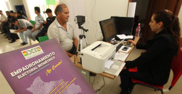 El plazo para empadronarse en el registro electoral biométrico vence el próximo lunes 30 de noviembre
