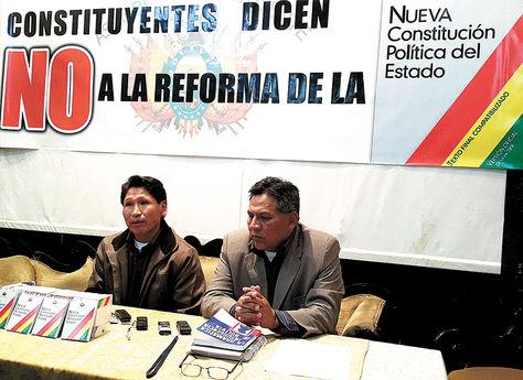Convocatoria. Escalante y Pamuri dieron detalles de las actividades para hoy y mañana en LaPaz.