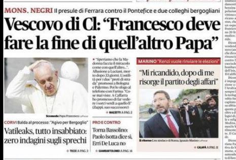 Portada del diario italiano Il Fatto Quotidiano