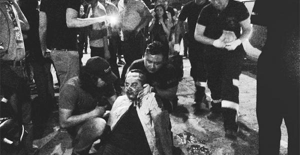 Los altercados empañaron la noche. Algunos asistentes terminaron heridos y hubo un elevado riesgo