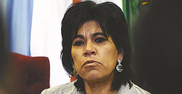 Katia Uriona estuvo el jueves en Sucre, en una sala plena para ver detalles del proceso