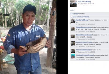 Humberto Masay publicó una serie de fotos en Facebook en las que exhibe el producto de su cacería