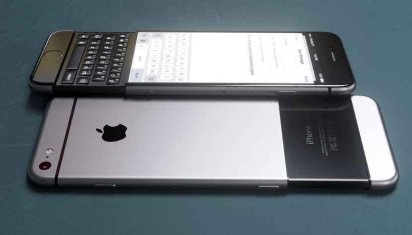 iphone teclado fisico retr%C3%A1ctil Concepto de iPhone 6k con teclado al estilo BlackBerry Priv