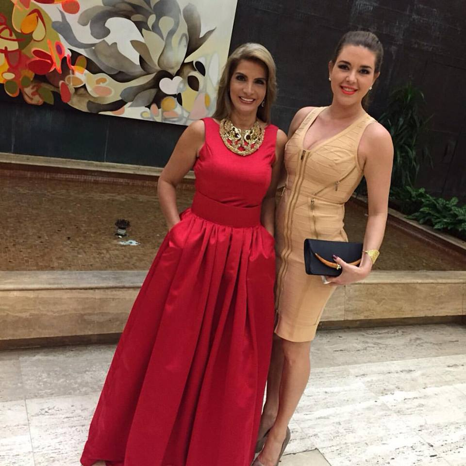 Con la ex Miss Universo Alicia Machado en Miami en la Gala de Mr. Model International