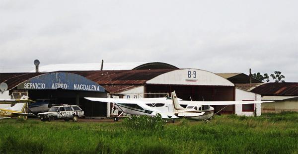 Estos son algunos de los hangares de Trinidad donde se realizaron los operativos de control antidroga