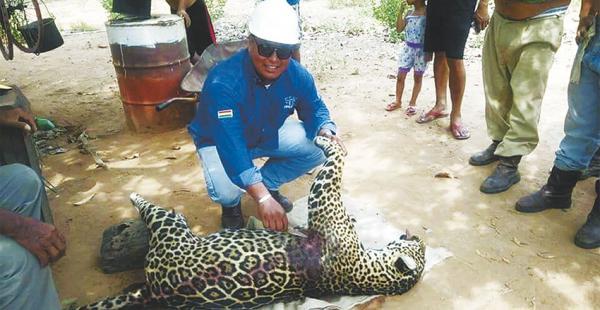 Las foto que presentó la Goberación como prueba de Humberto Masay con el jaguar