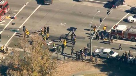 Los heridos que quedaron tras el tiroteo en California, Estados Unidos. Foto: Canice Leung