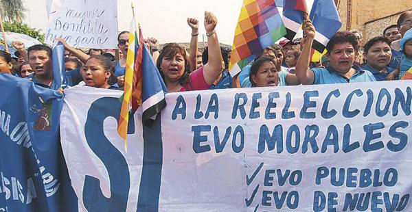 El MAS movilizó a su militancia en apoyo a la reforma en pro de la reelección de Evo Morales