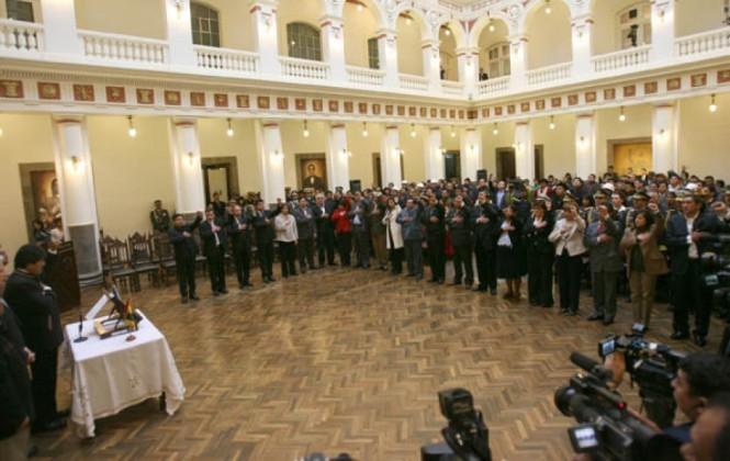 97 ministros pasaron por el gabinete de Evo en 10 años; sólo el 35% fueron mujeres
