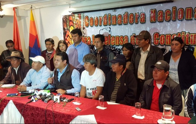 Articulación de líderes sociales y políticos anuncia férrea lucha contra la reforma de la CPE