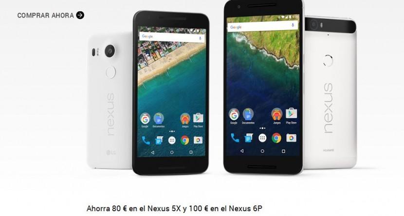 nexus descuento 830x444 Los Nexus 5X y 6P 80 y 100 euros de descuento