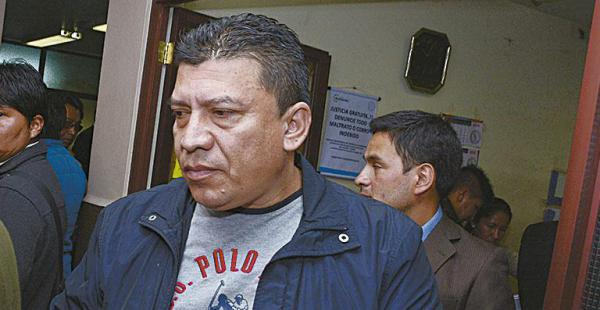 Juez dicta la tercera detención preventiva contra Marco Aramayo