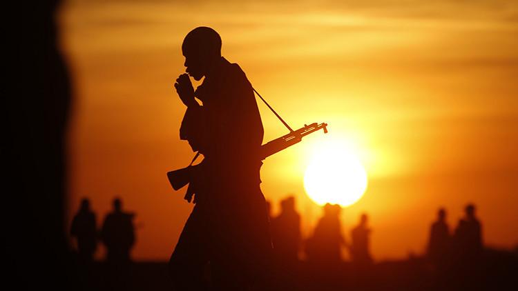 Un soldado del Ejército de Liberación del Pueblo de Sudán.