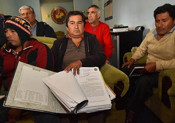 Trabajadores de Sinohydro, ayer en La Paz. -   Apg Agencia