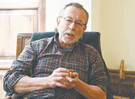 Charla. Juan del Granado concedió ayer una entrevista aLaRazón.
