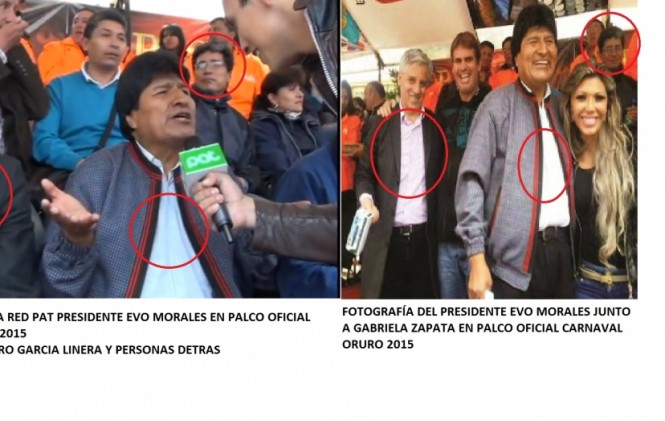 Evo Morales y Gabriela Zapata compartieron en el palco oficial del Carnaval de Oruro 2015