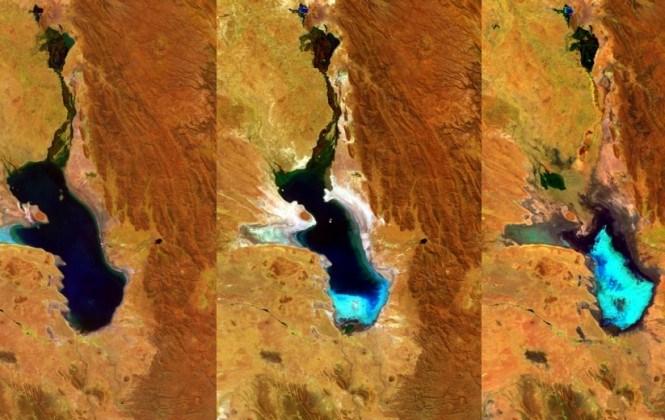 La Agencia Espacial Europea confirma la desaparición total del  lago Poopó