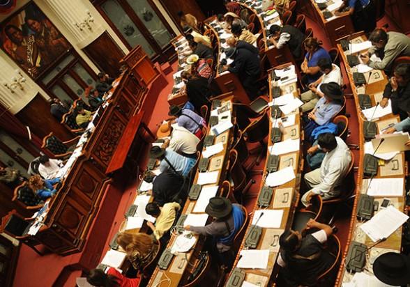 Reunión de la Asamblea Legislativa Plurinacional. - Wilson Aguilar Los Tiempos